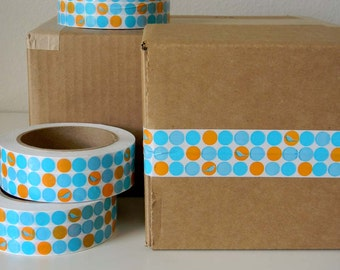 Tiny Birdie Dots - Fancy Packing or Shipping Tape
