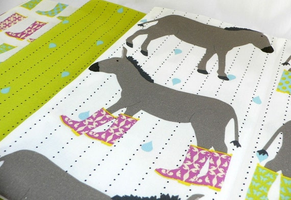 1/2 Yard Set - Original Fabric - Donkeys and Wellie Rain Boots