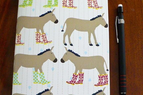 Journal - Donkeys in Wellie Rainboots
