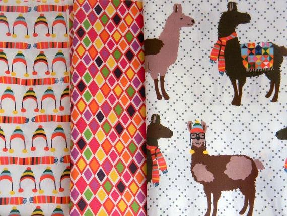 3 Fat Quarter SET - Llook Llamas