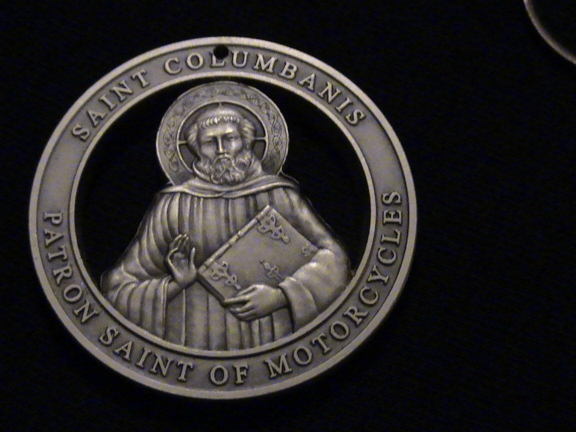 Indian Motorcycle Vintage >> Hand Cut Medallion with Saint Columbanis PATRON SAINT of