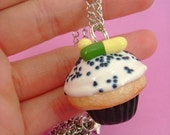 Cupcake of Simulated Happiness - Prozac / Fluoxetine Polymer Clay Mental Illness- Pendant / Necklace