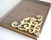 Vintage Gold Victorian Ornament Embellishment Arabesque
