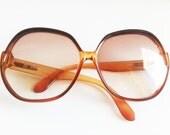 Burnt Orange Oversized Vintage Glasses