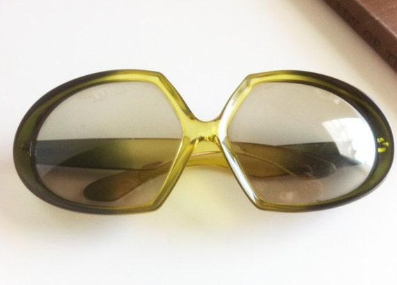 Chartreuse Oversized Vintage Glasses