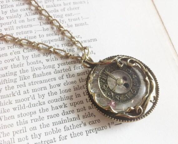 Time Turner Clock Necklace