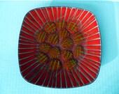 Vintage Mod AnneMarie DAVIDSON Dish Plate Enamel and Copper