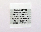 100% Cotton Woven Garment Apparel Care Labels (Package of 250) WS