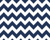 Four (4) Yards - Riley Blake Chevrons in Navy Quilter's Cotton Fabric C320-Navy