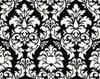 Fat Quarter - Damask Black White Fabric By Michael Miller