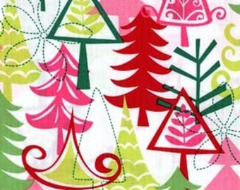 Two (2) Yards - Yule Tree Santa Christmas Fabric Michael Miller CX3637-Santa
