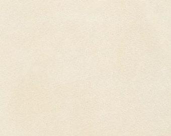 One (1) Yard - Nu-Suede in Cream solid by Robert Kaufman Fabrics
