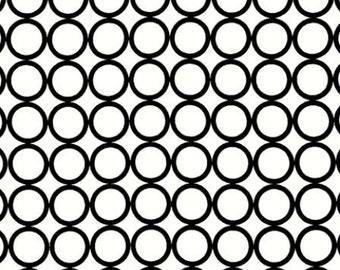 Fat Quarter - Metro Living Circle Print in Cream White by Robert Kaufman Fabrics EIP-11016-1 White