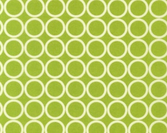 Fat Quarter - Metro Living Circle Print in Chartreuse Green and White by Robert Kaufman Fabrics EIP-11016-38 Chartreuse
