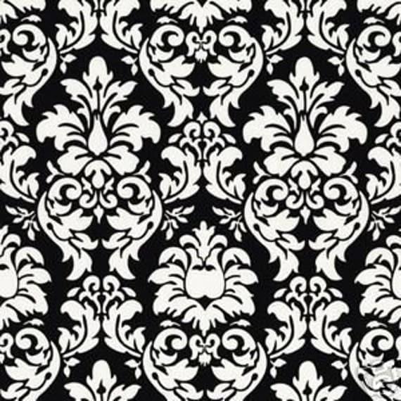 Damask Black White Michael Miller CX3095 fabric fat quarter