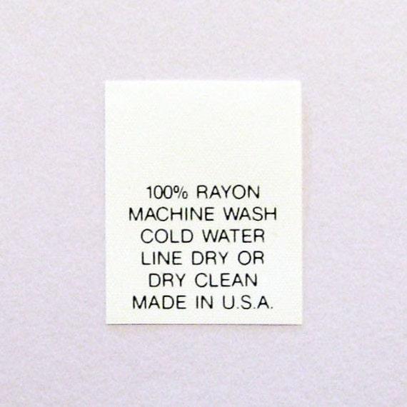 machine wash rayon