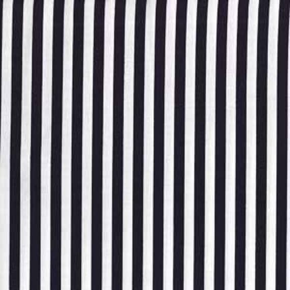 Two (2) Yards - Clown Stripe Black White Michael Miller CX3584-White
