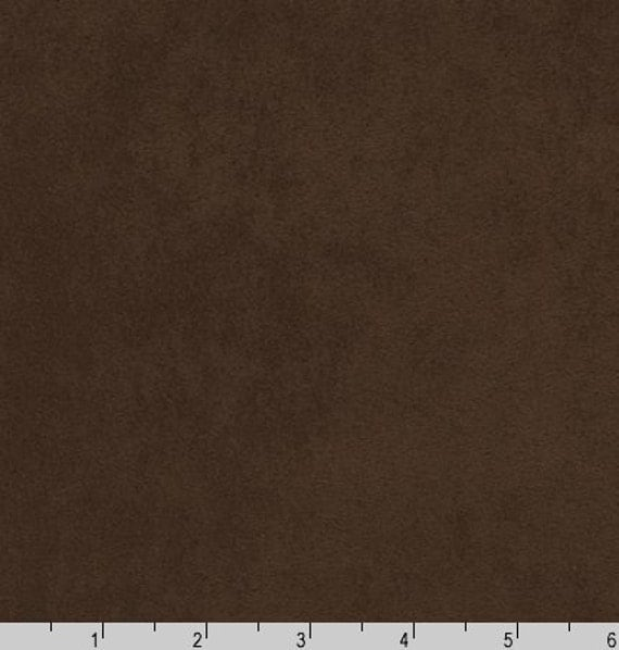 One 1 Yard Nu Suede In Chocolate Brown Solid By Robert