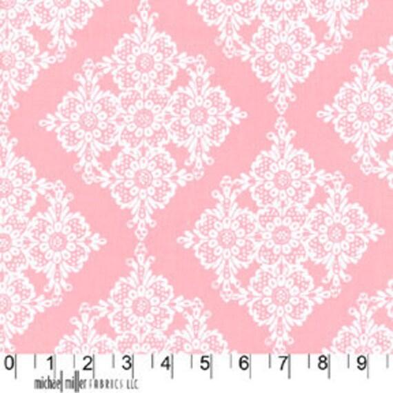 Fat Quarter- Linda Lace Pink by Michael Miller Fabrics CX5276-Bloom