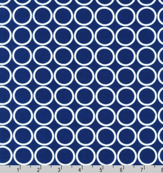 Fat Quarter - Metro Living Circle Print in Navy Blue and White by Robert Kaufman Fabrics EIP-11016-9 Navy