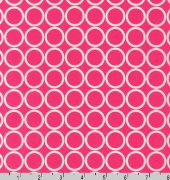 Fat Quarter - Metro Living Circle Print in Pink by Robert Kaufman Fabrics EIP-11016-108 Fuchsia