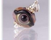 Evil Eye Pendant - Lampwork Glass Bead