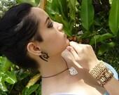 Fake Gauge earrings,Organic ,Horn, Split Gauge ,Sprial  Earrings, Fancy ,Tribal ,Cheater,naturally,oraganic
