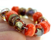 Lampwork Beads PHOENIX Organic Seeds Handmade Glass Goodness for your Inspired Designs