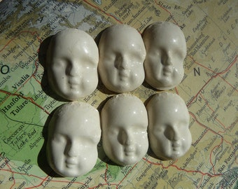 6 Porcelain face cabochon or tile