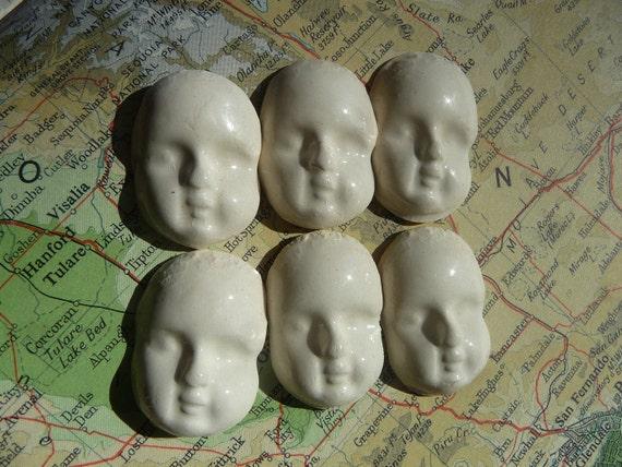 6 Porcelain face cabochon or tile