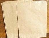 50 - 10 x 13 UNPRINTED flat merchandise bags - Kraft Paper Brown