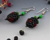 Black Raspberry Earrings