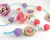 Lilac Raspberry Nursing Necklace
