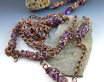 Amethyst Cocoons Necklace