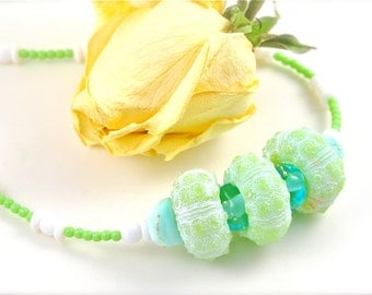 Green Urchin Necklace