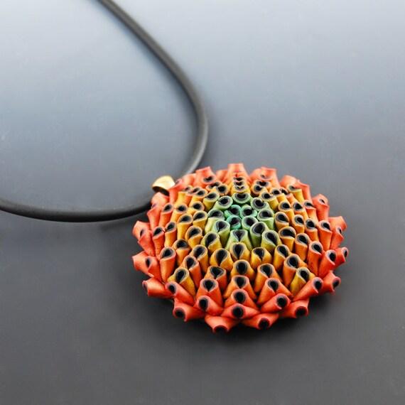 Velvet  Flower Pendant