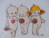 Vintage Rose O'Neill Kewpie Doll Plate