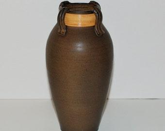 Studio Pottery Stoneware Olive Jar Vessel