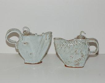 Modernist Studio Pottery Teapots, Pair