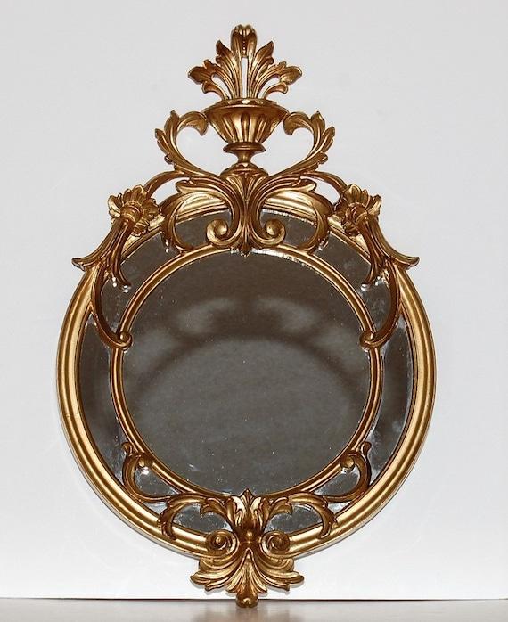RESERVED Hollywood Regency  Italian Gold Framed Wall Mirror