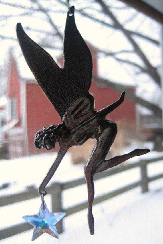 Swarovski Crystal Pewter Star Fairy Suncatcher