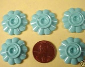 10 turquoise Color flatbacks with setting