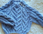 Hand Knit Aran Baby Sweater