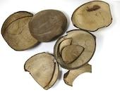 Broken Natural Coconut Shells for Bird Toy Parts