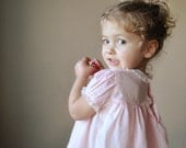 Pale Pink Spring Dress, size 6-12 months
