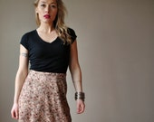 ON RESERVE......70s Earth toned Floral skirt