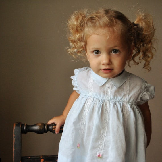 50s Baby blue Frock 12-18 months