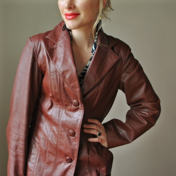 70s Burnt Umber Leather Jacket