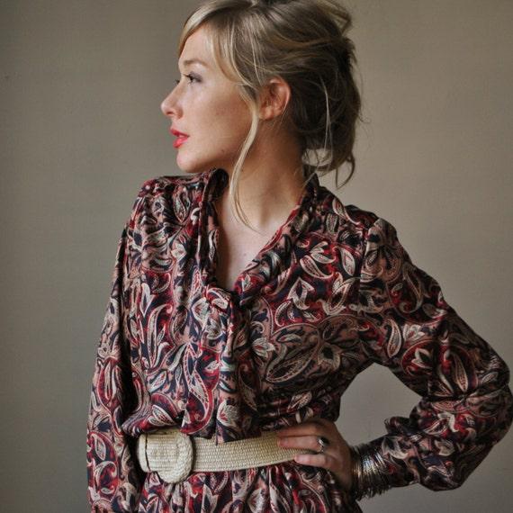 80s Rich Paisley print dress