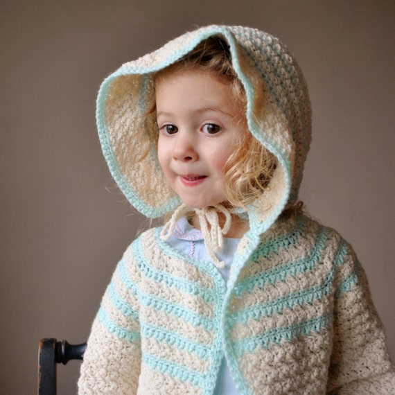 Mint green and cream Knit sweater and hat, size 2T
